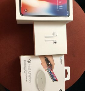 Apple iPhone X 64 gb+AirPods+бзу
