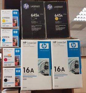 Картриджи для принтеров HP LaserJet, Epson, Canon