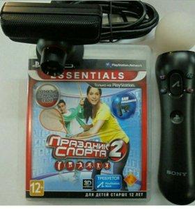 PS 3 move контролер + eye камера + игра