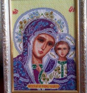 Вышивка Икона Святая Богородица Казанская