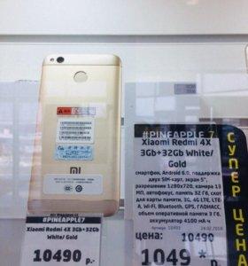 XIAOMI Redmi 4x 3+32gb Black новый