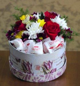 💐 Цветы в коробочке
