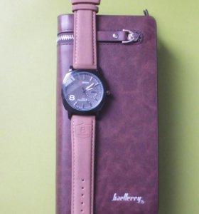 Набор часы Curren+клатч.