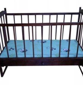 Детские кроватки на качалках