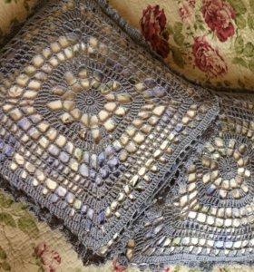 Новые подушечки декоративные ручная работа хлопок