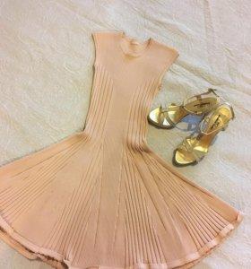 Alaïa платье бандажное+босоножки Pakerson новые!