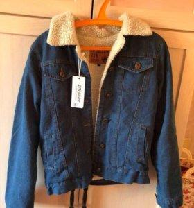 Джинсовая куртка(утеплённая)