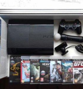 PlayStation 3 +диски+мышь для SP3