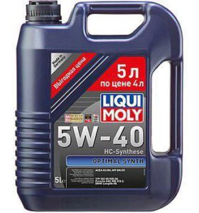 Моторное масло LiquiMoly Optimal Synth 5w-40 5 лит