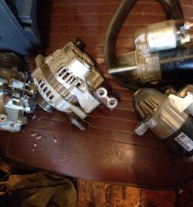 Мазда 3 стартер, генератор, насос кондиционера.