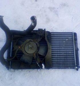 Радиатор с вентилятором ваз 2110