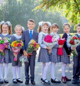 Фотосессии в саду и школе.