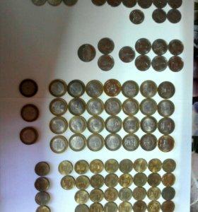 Монеты коллекционные .