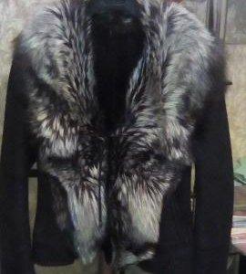 Дубленка жилетка из чернобурки