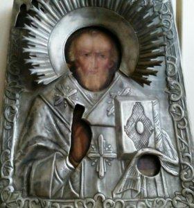 Икона Св. Николай Чудотворец. 19 век