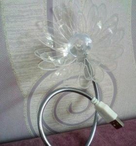 Светильник цветок usb для ноут бука