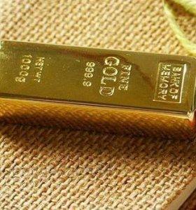 Золотая флешка - золотой слиток розница и опт