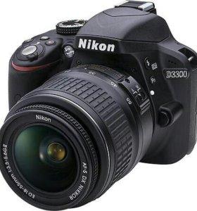 Фотоаппарат Nikon D3300 цена 25000р