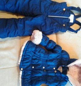 Комбенизон зимний для девочки