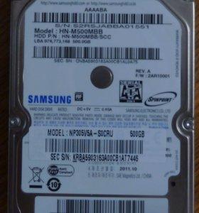 HDD Samsung HN-M500Gb