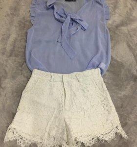 Кружевные шортики и блузка