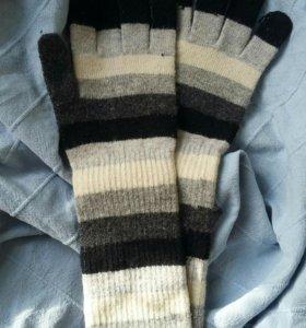 Перчатки длинные теплые