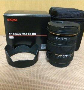 Sigma AF 17-50 mm 2.8 EX DC HSM Pentax новый