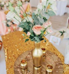Баночки подсвечники для декора свадьбы