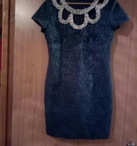 Платье жаккардовое коктельное
