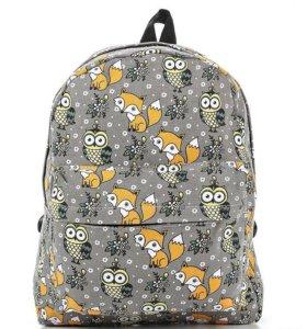 Рюкзак с лисами и совами