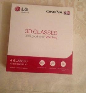 3D Очки LG, 4 штуки