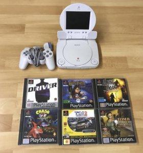 Редкая Sony PlayStation psone LCD PAL