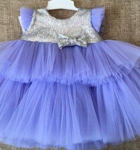 Нарядное платье на годик 74-80