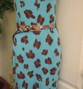 бирюзовое платье 3 штуки