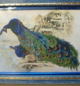 Картина из бисера на шолке