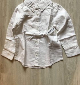 Рубашка белая old navy на 2 года,новая