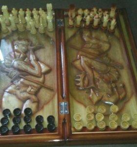 Нарды-шахматы ручной работы