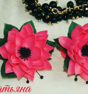 Резиночки с цветами из фоамирана
