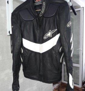 Куртка из натуральной кожи, байкерская