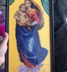 Вышитая картина Сикстинская Мадонна