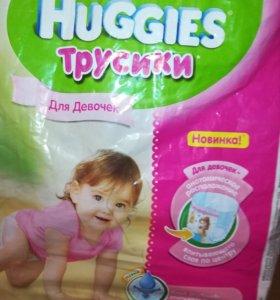 HUGGIES трусики, 9-14кг