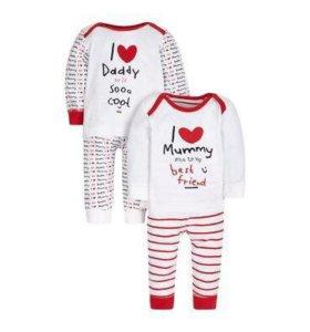 Детские новые пижамы Mothercare