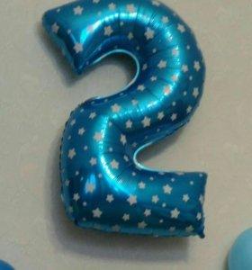 Шарик цифра 2