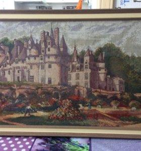Вышитая картина «Замок Юссе»