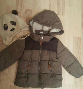 Куртка+полукомбинезон+шапочка на сезон весна-осень