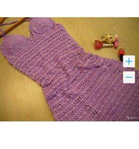 Продаётся вязаное летнее платье