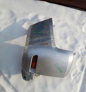 Левая сторона заднего бампера на Delica D5