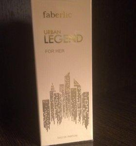 Urban Legend НОВАЯ парфюмированная вода Faberlic