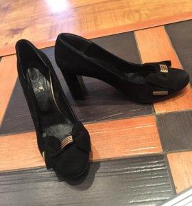 Туфли замша натуральная