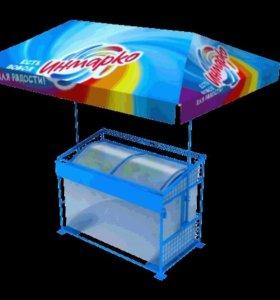 Торговая тележка для мороженого ларя